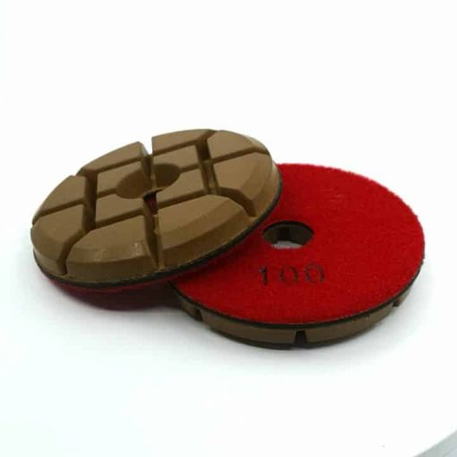 100 grit diamond hybrid 4 inch concrete polishing pucks