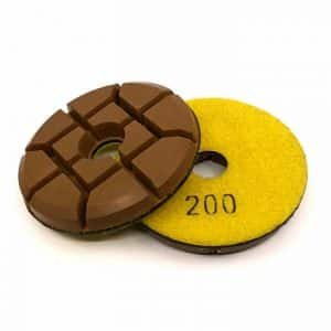 200 grit hybrid transition 4 inch concrete polishing puck 1